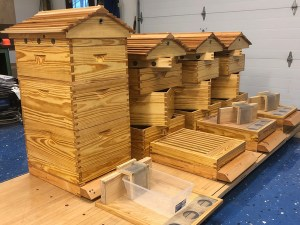A Langstroth hive can be customized to do whatever you want it to do. Hives and photo © Rick Cheverton.