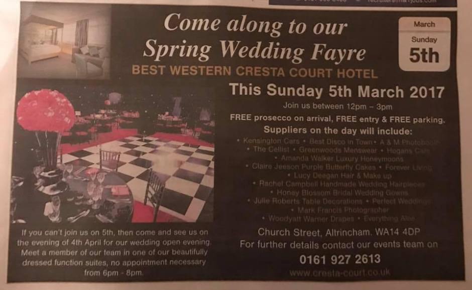 Cresta Court wedding fayre