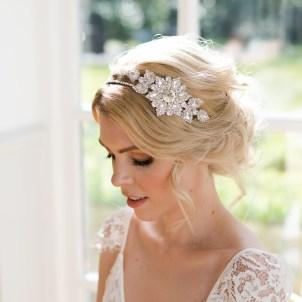 Vintage crystal wedding hairband - Faith