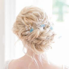 Swarovski coloured bridal hair pins - Lilybeau