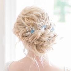 Swarovski coloured bridal hair pins - Lilybeau