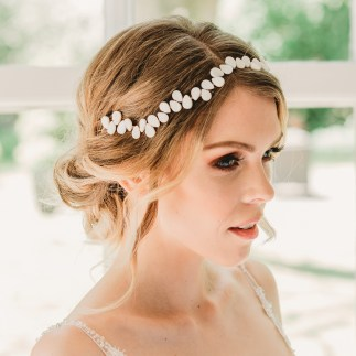 Pearl wedding hair vine - Averie