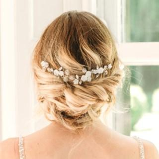 Mother of pearl bridal hair slide - Alessandra