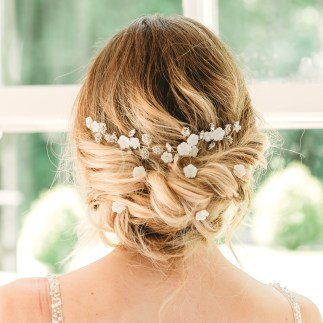 Mother of pearl bridal hair vine and hair pins - Ayla and Alessandra