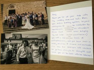 Honeyblossom Bride Ruth thank you card