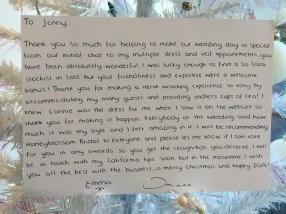 Honeyblossom Bridal boutique testimonial