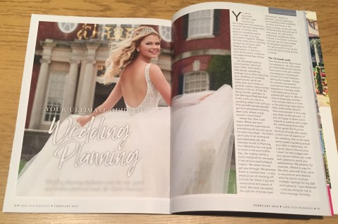 Love Our Wedding magazine at Honeyblossom Bridal