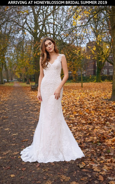 Catherine Parry Cerys wedding dress front coming soon to Honeyblossom Bridal