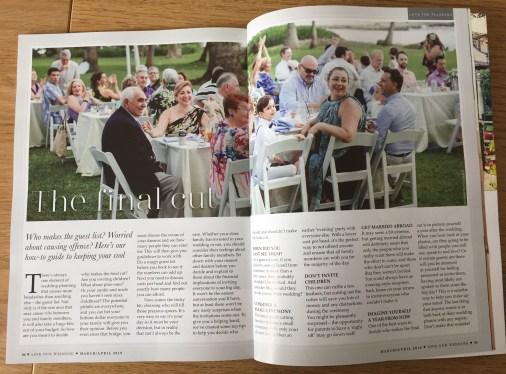 Wedding guest list help from Love Our Wedding magazine