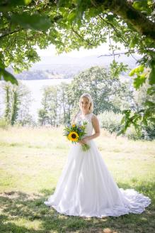 Honeyblossom Bride wears Catherine Parry wedding gown