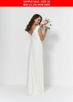 So Sassi Bianca wedding dress sample sale
