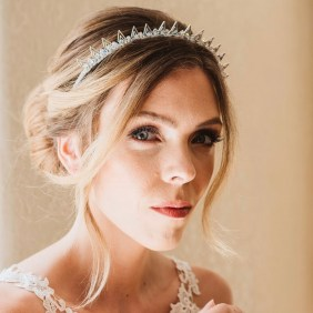 Spiky bridal crown -Elpis