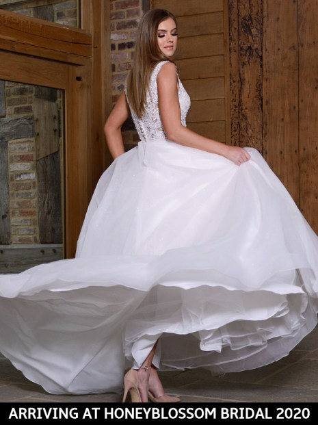 Catherine Parry Cassandra wedding dress coming soon to Honeyblossom Bridal boutique