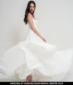 Freda Bennet Florence wedding gown arriving soon to Honeyblossom Bridal
