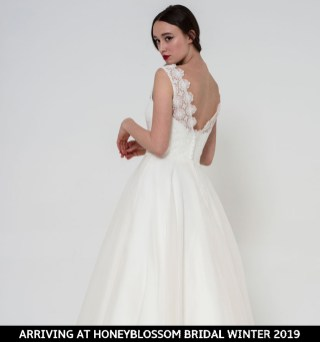 Freda Bennet Freya bridal dress arriving soon to Honeyblossom Bridal