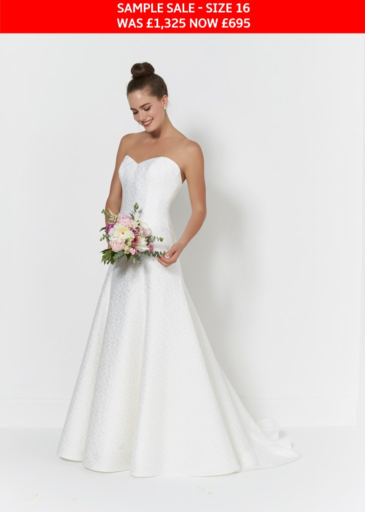 So Sassi Ebony wedding dress sample sale