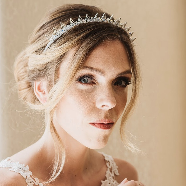 Spiky silver bridal crown - Elpis