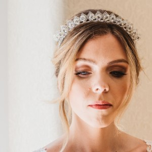Crystal bridal crown - Levana