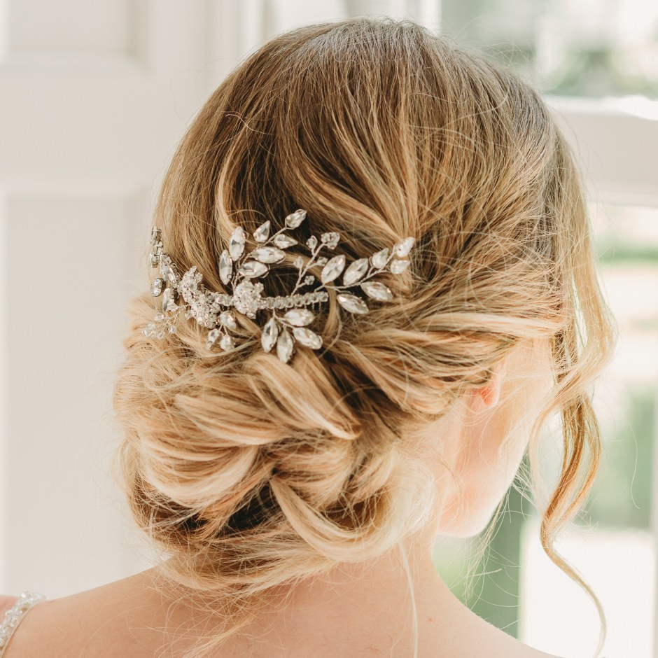 Rachel Chaprunne crystal bridal haircomb - Gabriella