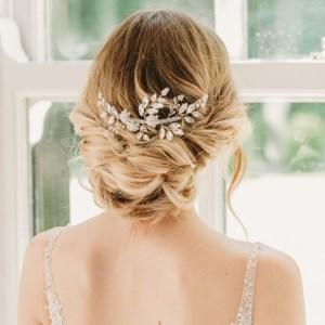 Crystal bridal hairslide - Gabriella