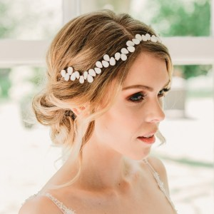 Pearl wedding hair vine - Averie