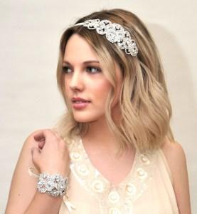 Vintage crystal wedding headpiece - Persephone