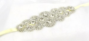 Vintage crystal wedding belt - Persephone
