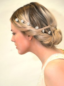 Wedding hair pins headpiece Swarovski - Oriana
