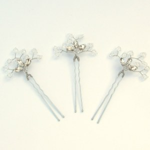 Handmade crystal wedding hair pins - Azalea