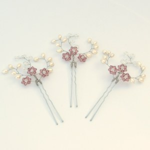 Wedding hairpins - Iris