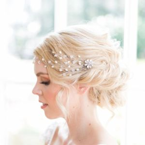 Wedding headpiece wedding hairvine - Camellia