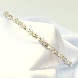Bridal headpiece bridal headband - Callia