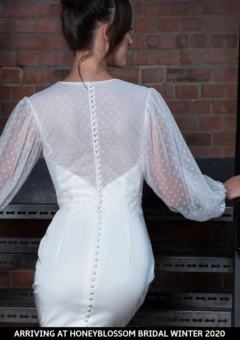 Freda Bennet Marcie bridal dress arriving soon to Honeyblossom Bridal
