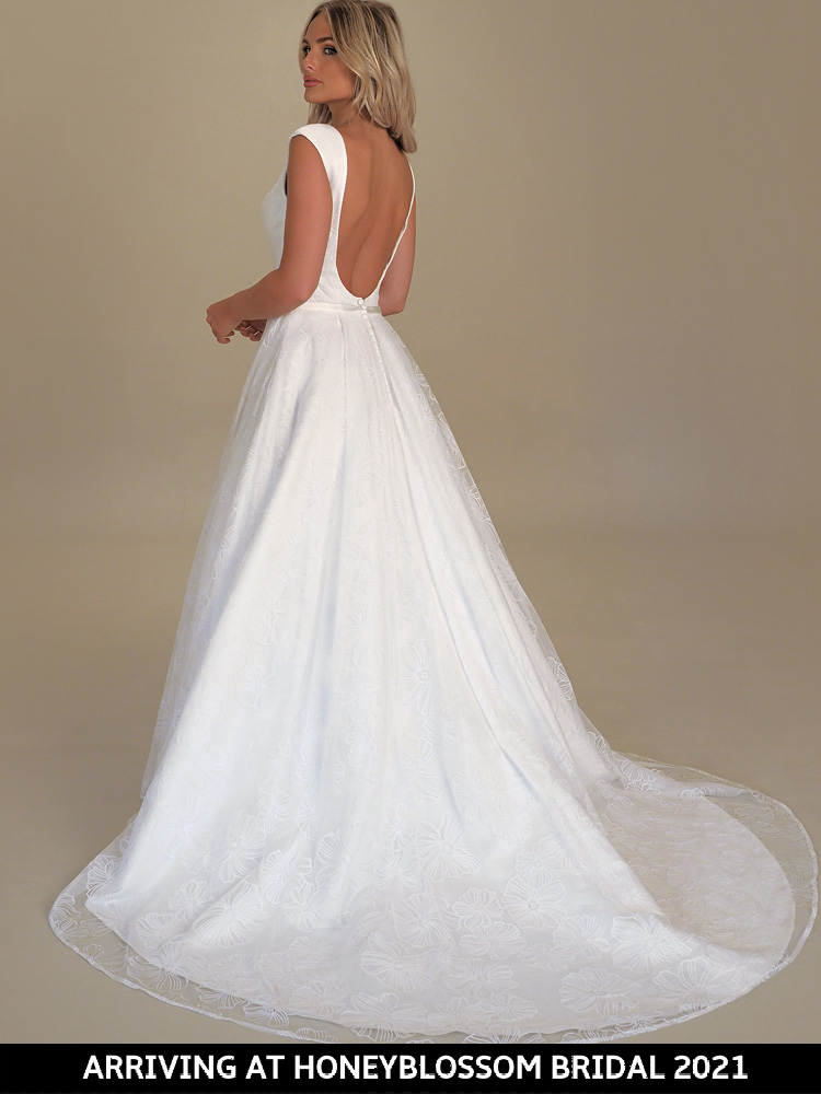 GAIA Maxime bridal gown arriving soon to Honeyblossom Bridal boutique