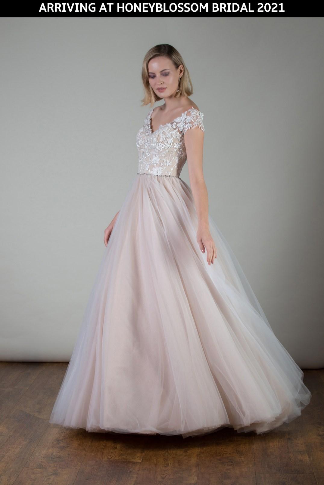 MiaMia Ashlyn wedding dress arriving soon to Honeyblossom Bridal