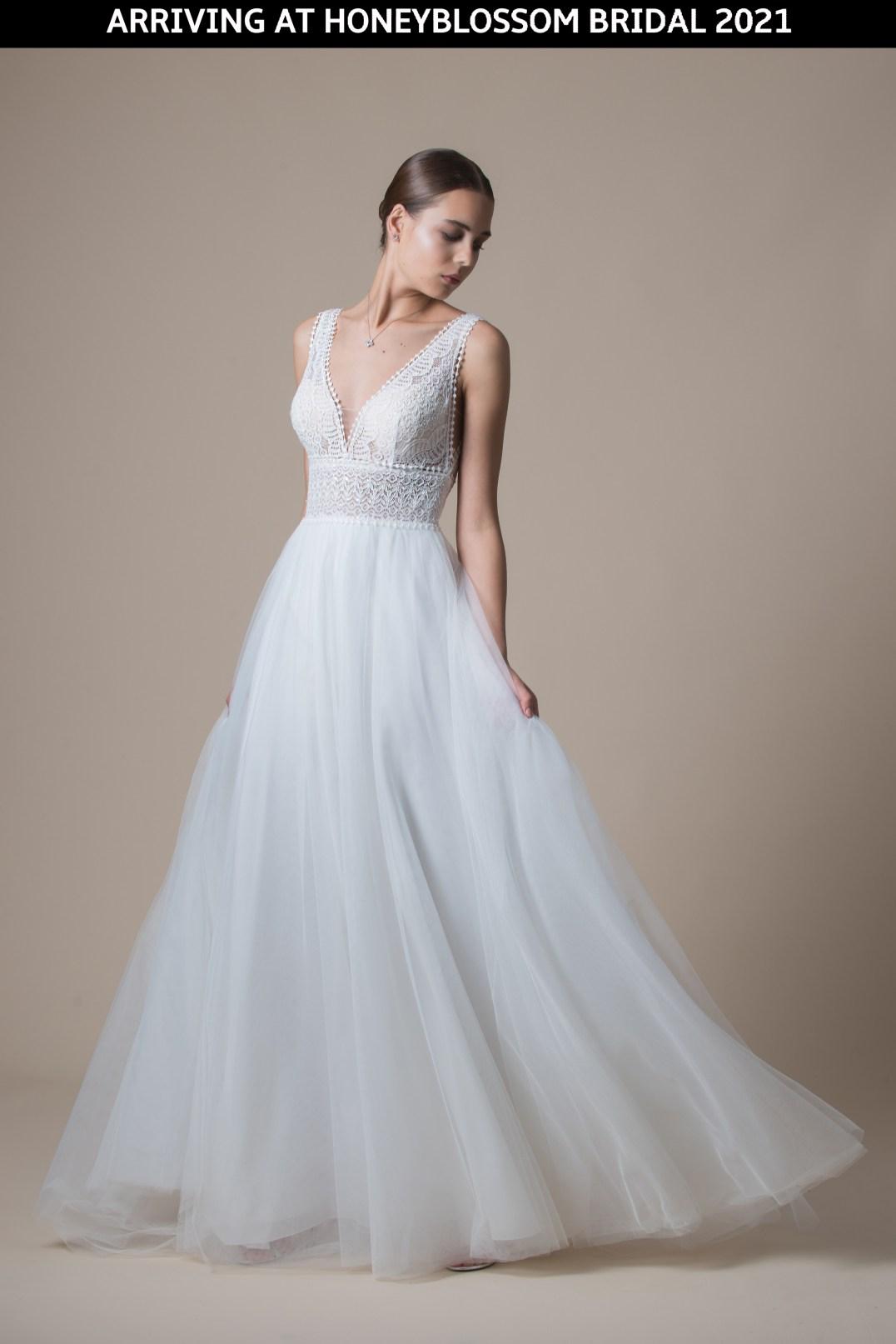 MiaMia McKenzie wedding dress arriving soon to Honeyblossom Bridal