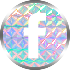 honeybunnytwee iridescent facebook social media icon