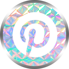 honeybunnytwee iridescent pinterest social media icon