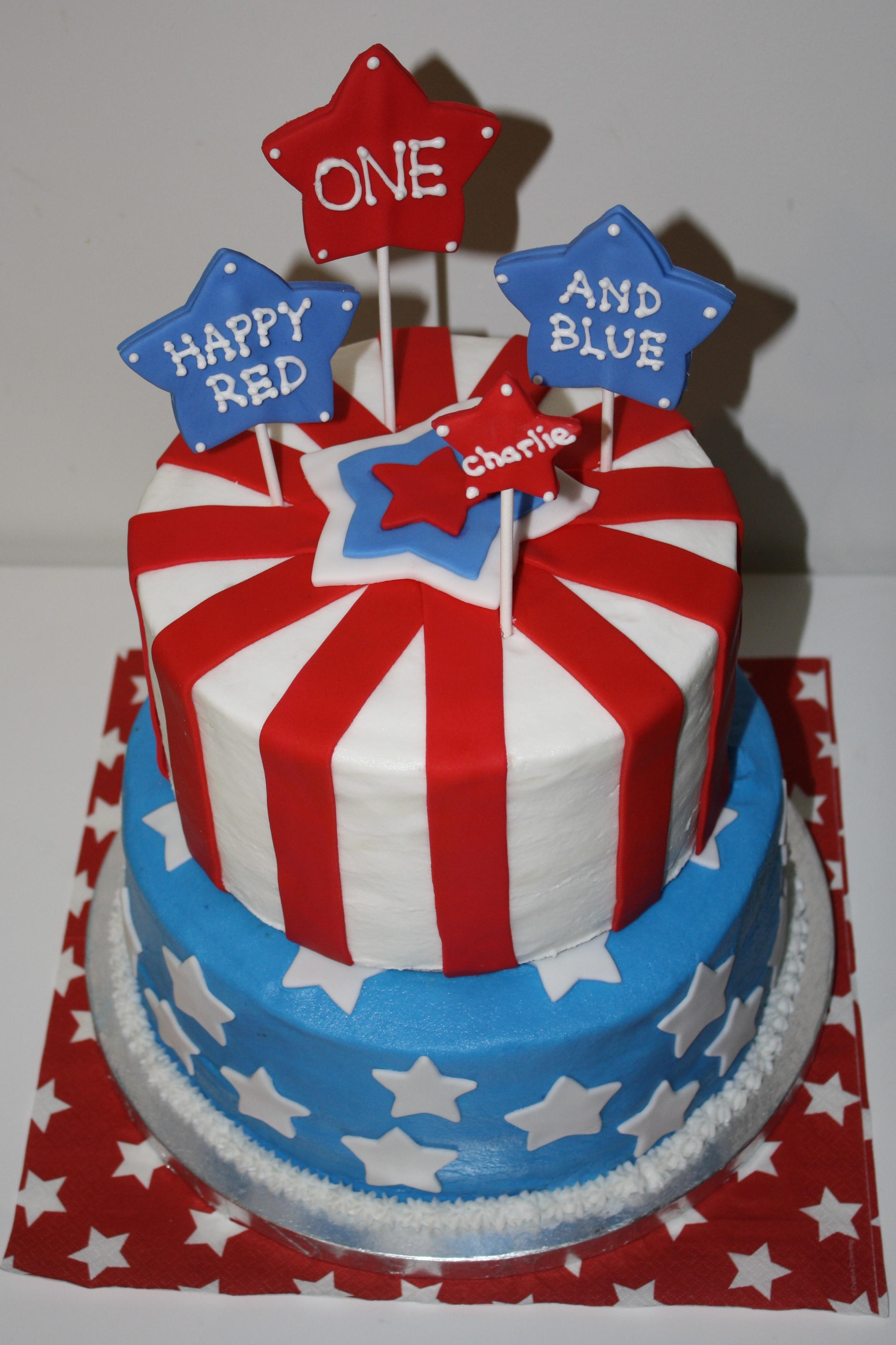 Red White And Blue Birthday Cake Ideas