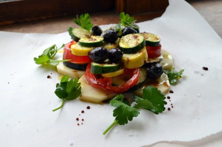 Provencal Vegetables Ready to Bake en Papillote