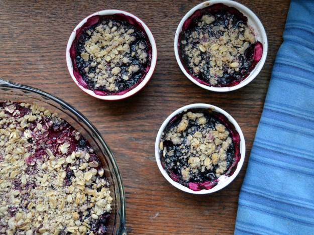 Berry Crisp With Pinenut Hazelnut Topping