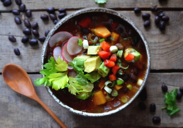 Butternut Squash and Black Bean Chili with Chipotle