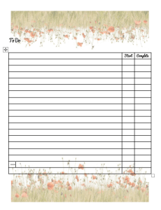official mechandise honeycup waters meadow pattern style 2 to do list