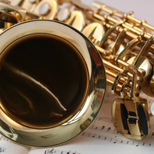 Happy Saxophone music image
