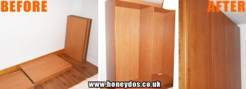 FLAT PACK WARDROBE ASSEMBLY