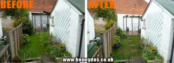 GARDEN TIDY UP AND OLD ROOF REMOVAL