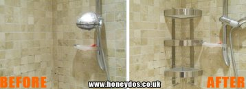 SHOWER STORAGE UNIT