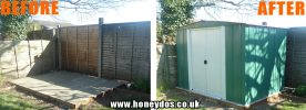 METAL SHED ASSEMBLY