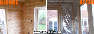 FOIL WALL INSULATION FITTED