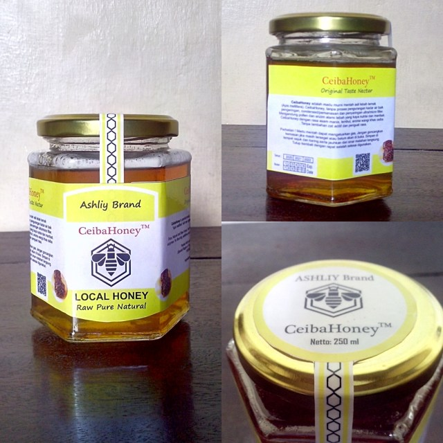 CeibaHoney 250ml JAR (toples) Kaca